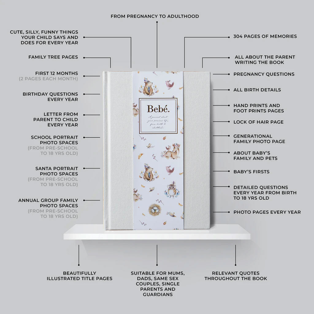 Bebe Baby to Adulthood Journal - Ivory - UrbanBaby shop