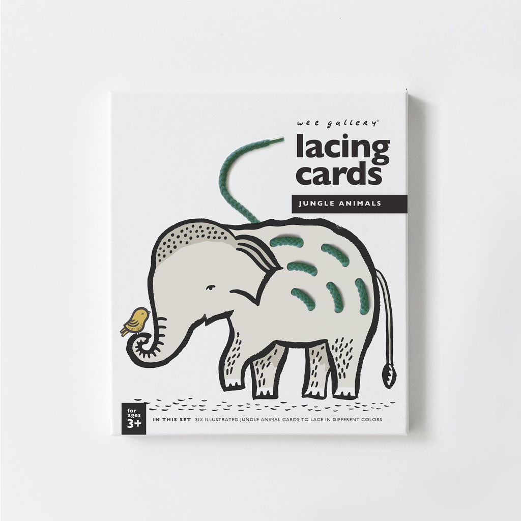Wee Gallery Lacing Cards Jungle Animals - UrbanBaby shop