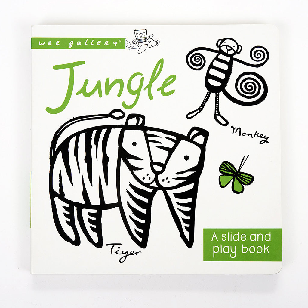 Wee Gallery Slide & Play Board Book - Jungle - UrbanBaby shop