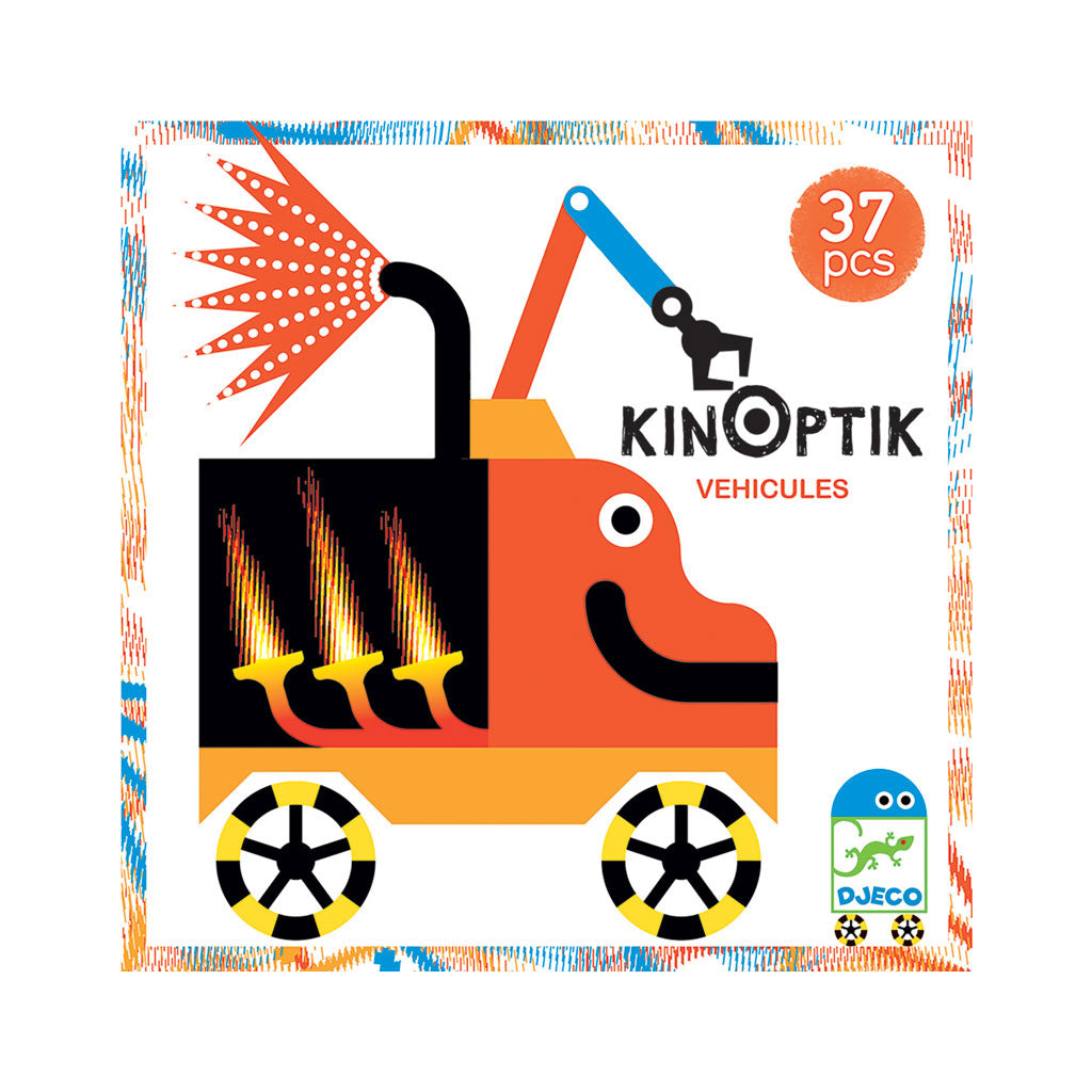 Djeco Kinoptik Set - Wacky Vehicles - UrbanBaby shop