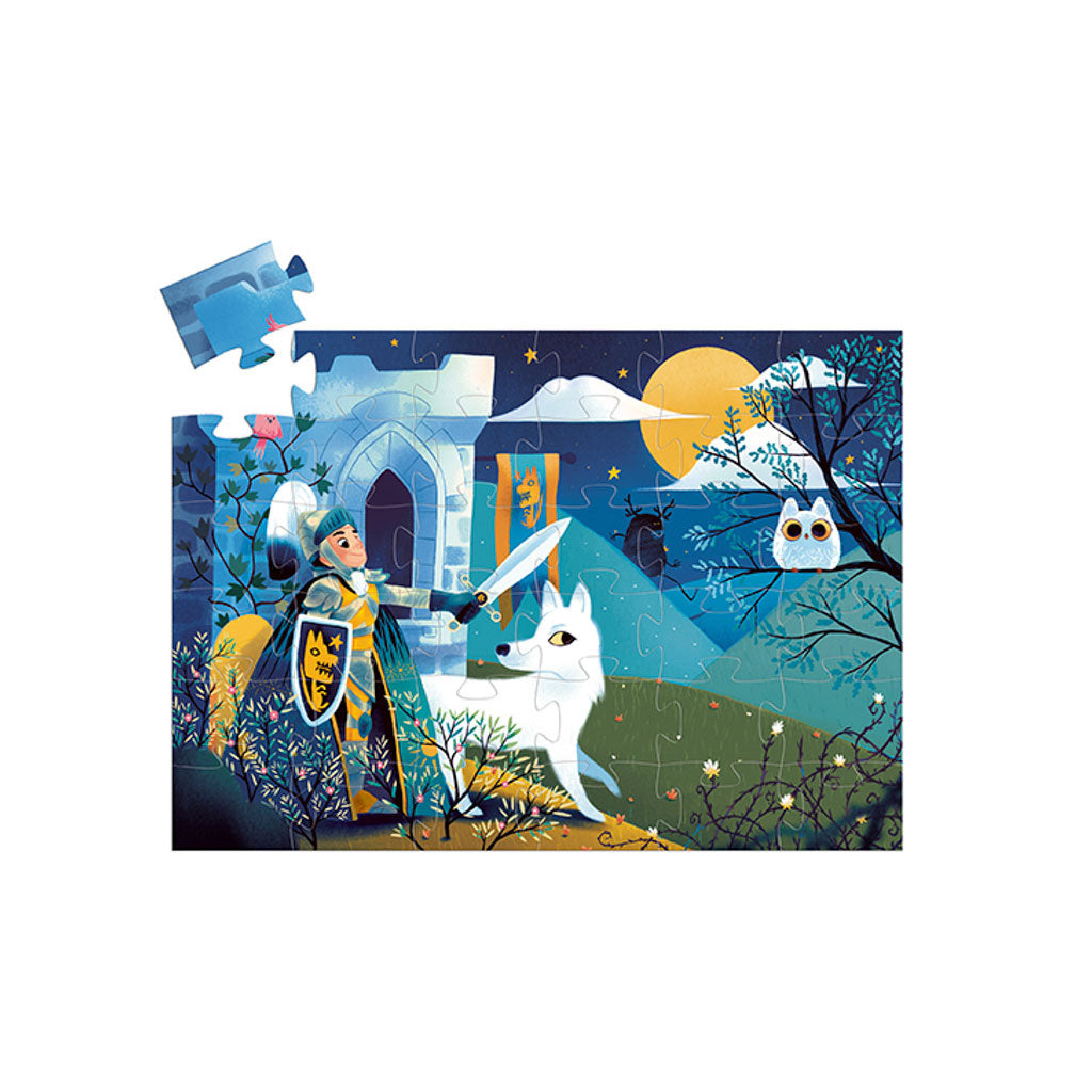 Djeco Puzzle - Full Moon Knight 36pc - UrbanBaby shop