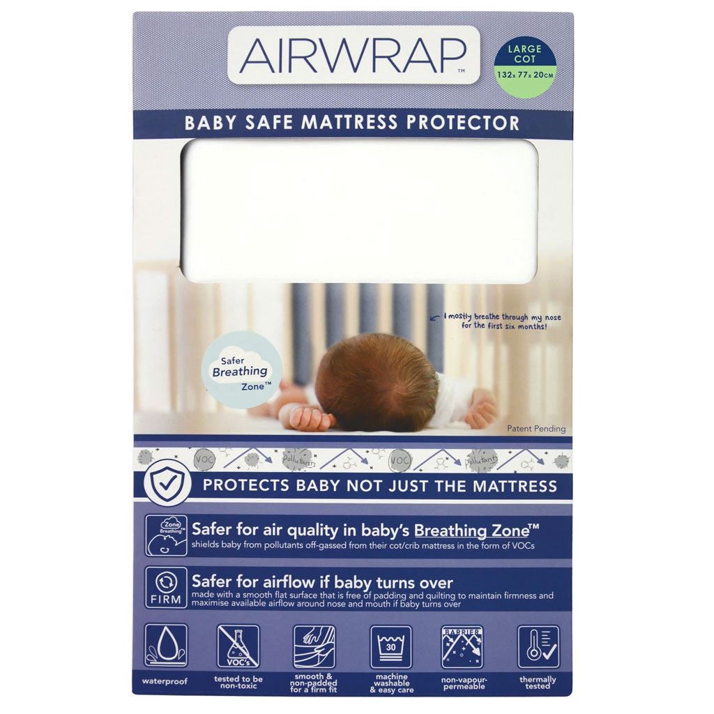 Airwrap Baby Safe Mattress Protector - Large Cot - UrbanBaby shop