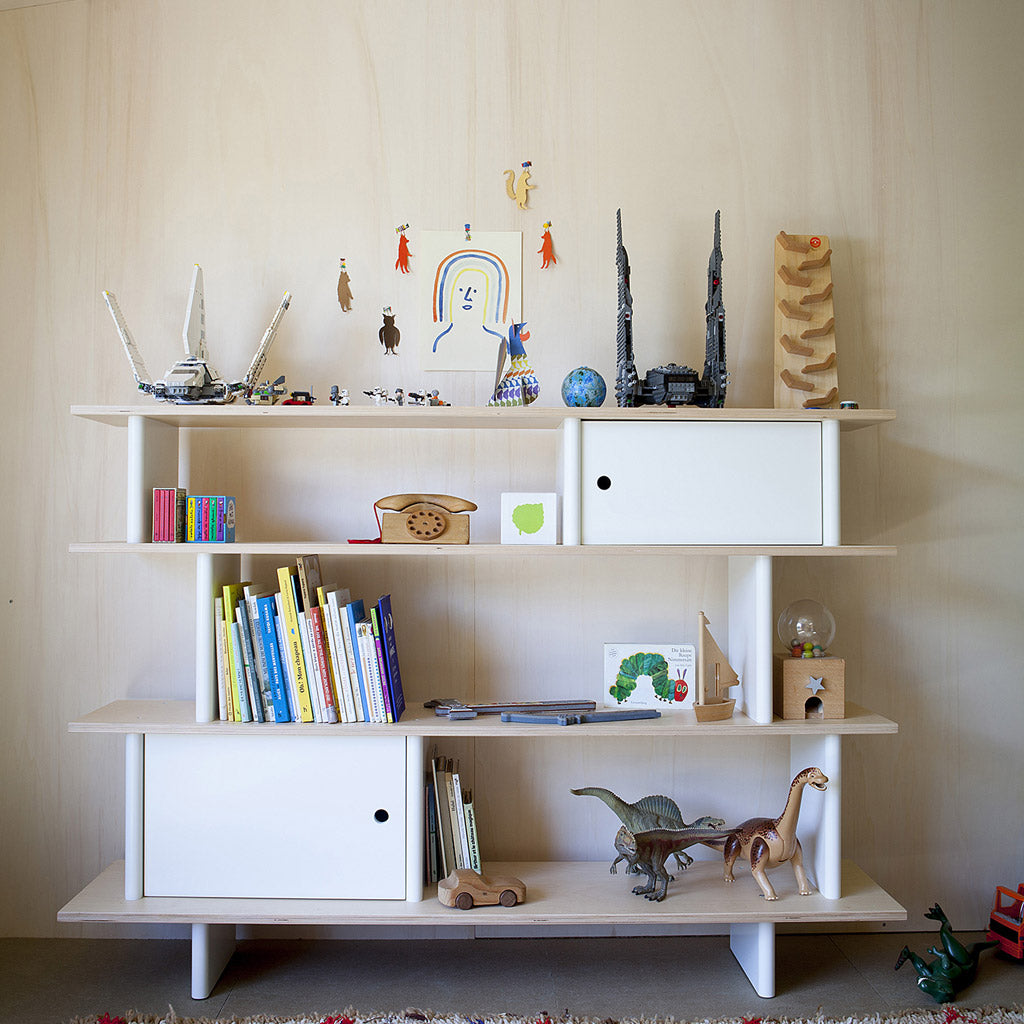 Oeuf Mini Library - Walnut - UrbanBaby shop