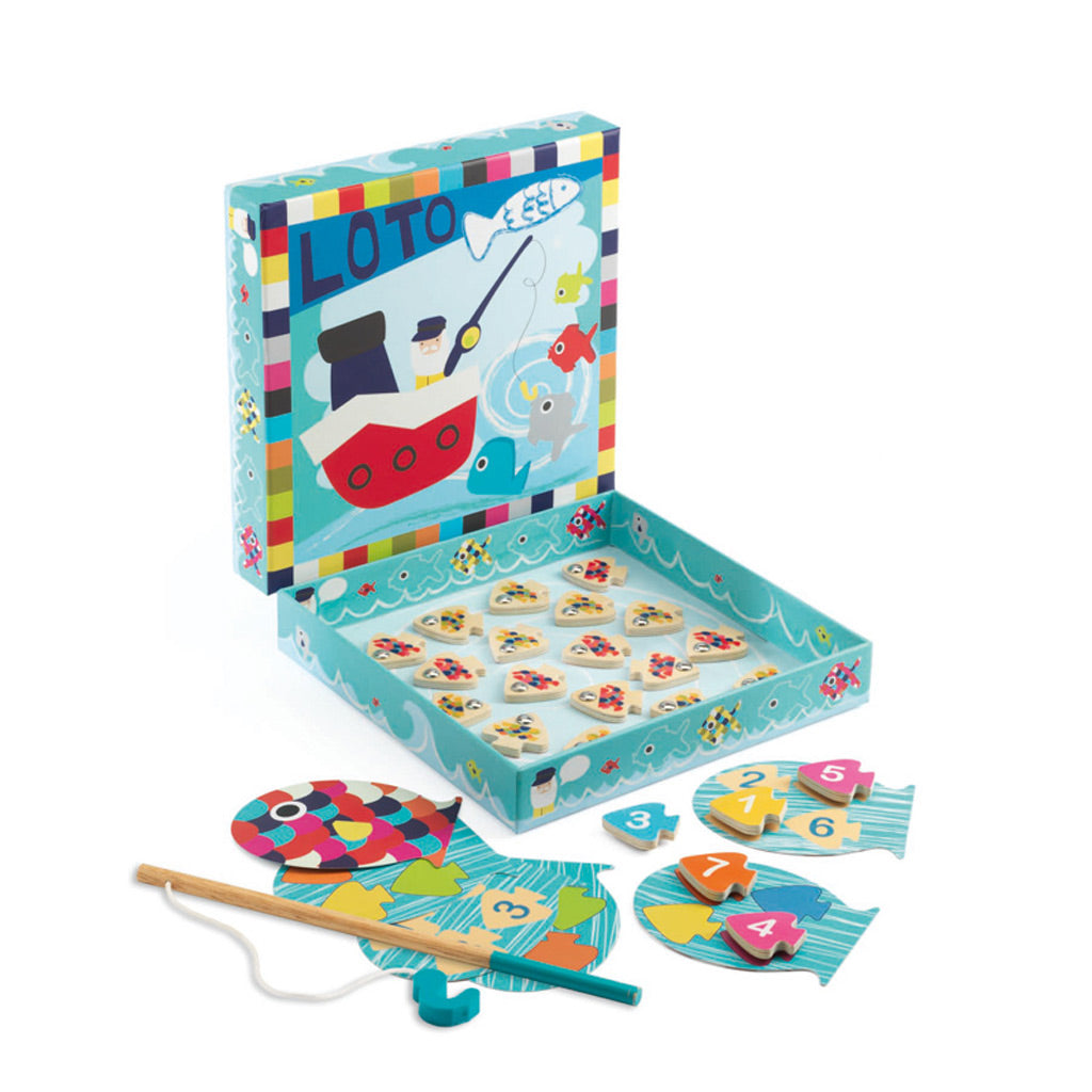 Djeco Navy Loto Magnetic Fishing Game - UrbanBaby shop