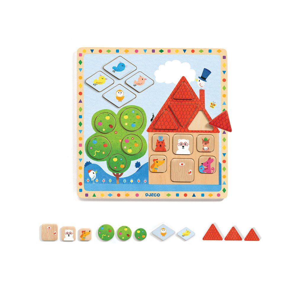 Djeco Wooden Puzzle - Ludigeo - UrbanBaby shop