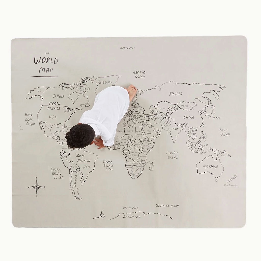 Gathre Change Mat Midi Plus - World Map - UrbanBaby shop