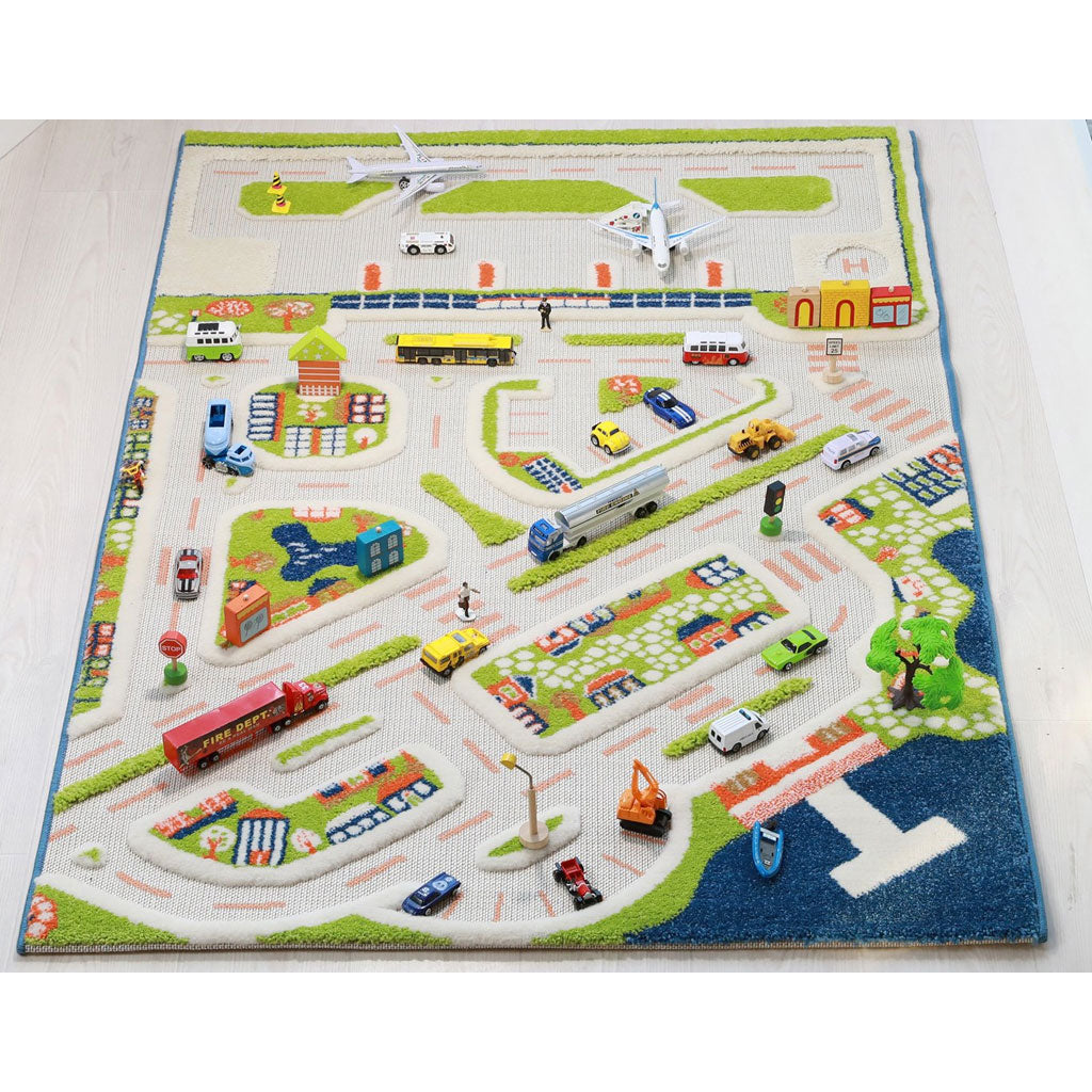 IVI Interactive Play Rug Mini City Medium