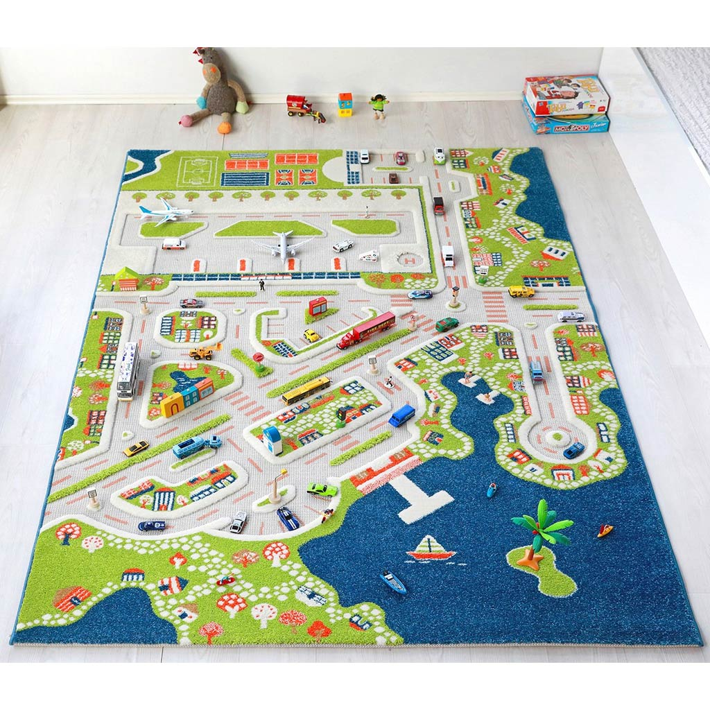 IVI Interactive Play Rug Mini City Extra Large