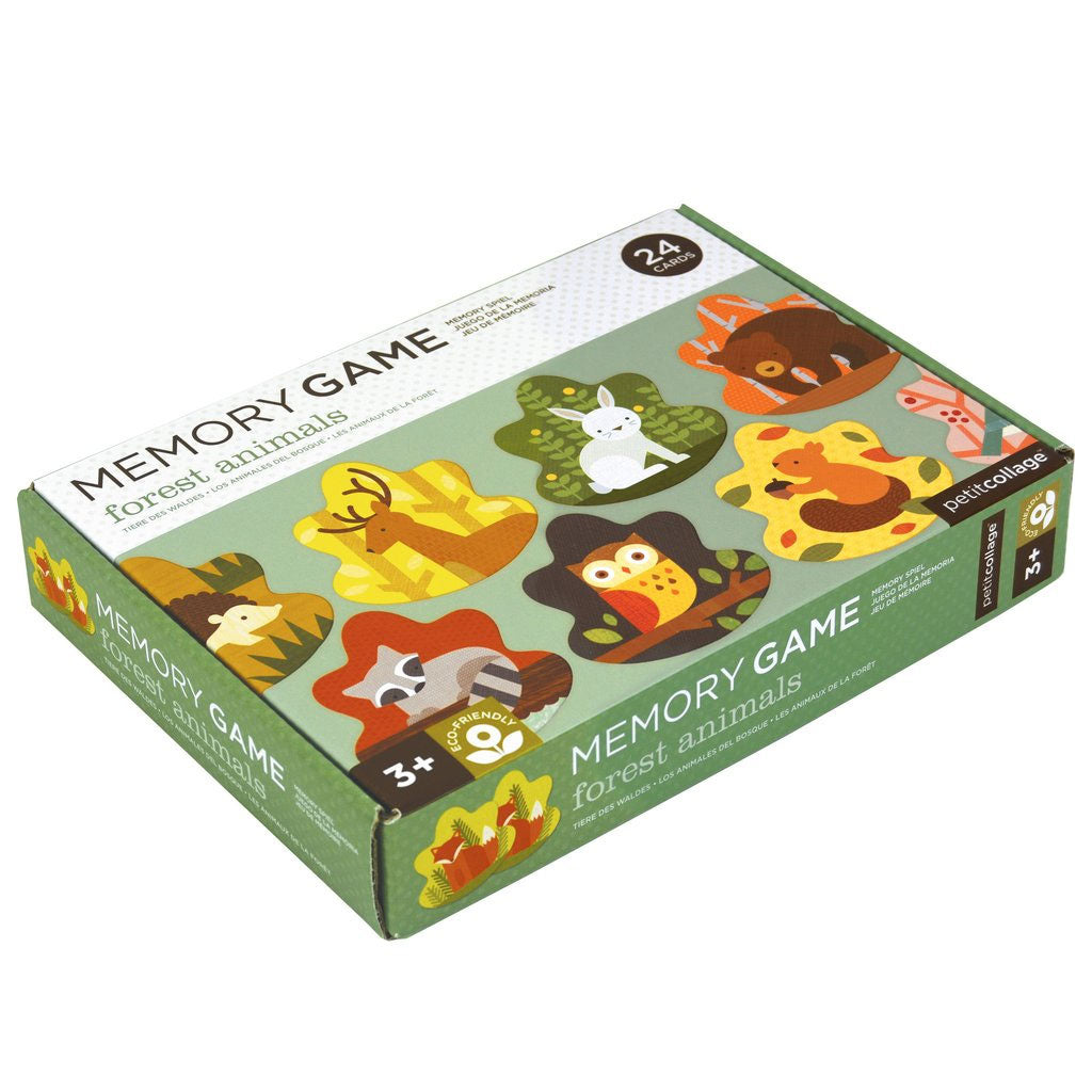 Petit Collage Memory Game Forest Animals - UrbanBaby shop