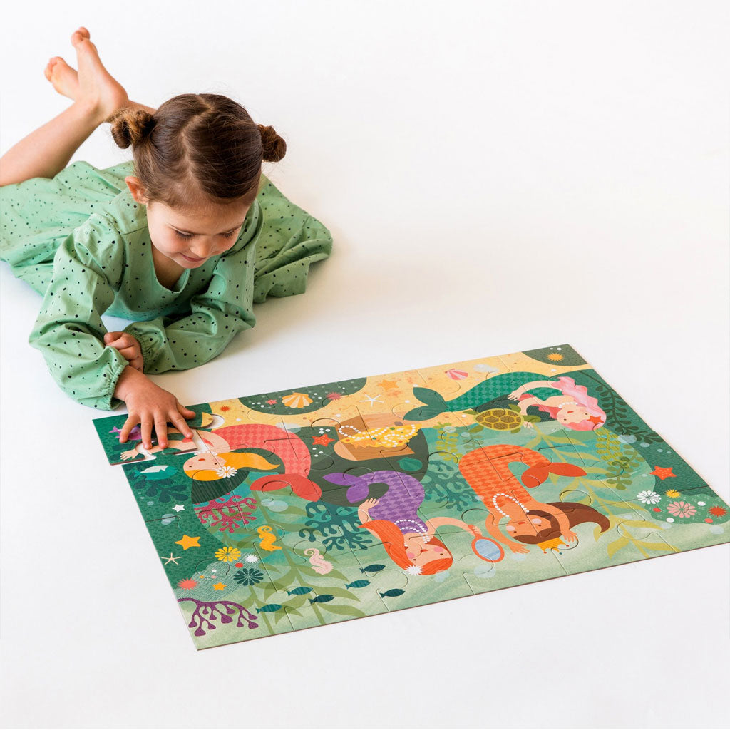 Petit Collage Floor Puzzle Mermaid Friends - UrbanBaby shop