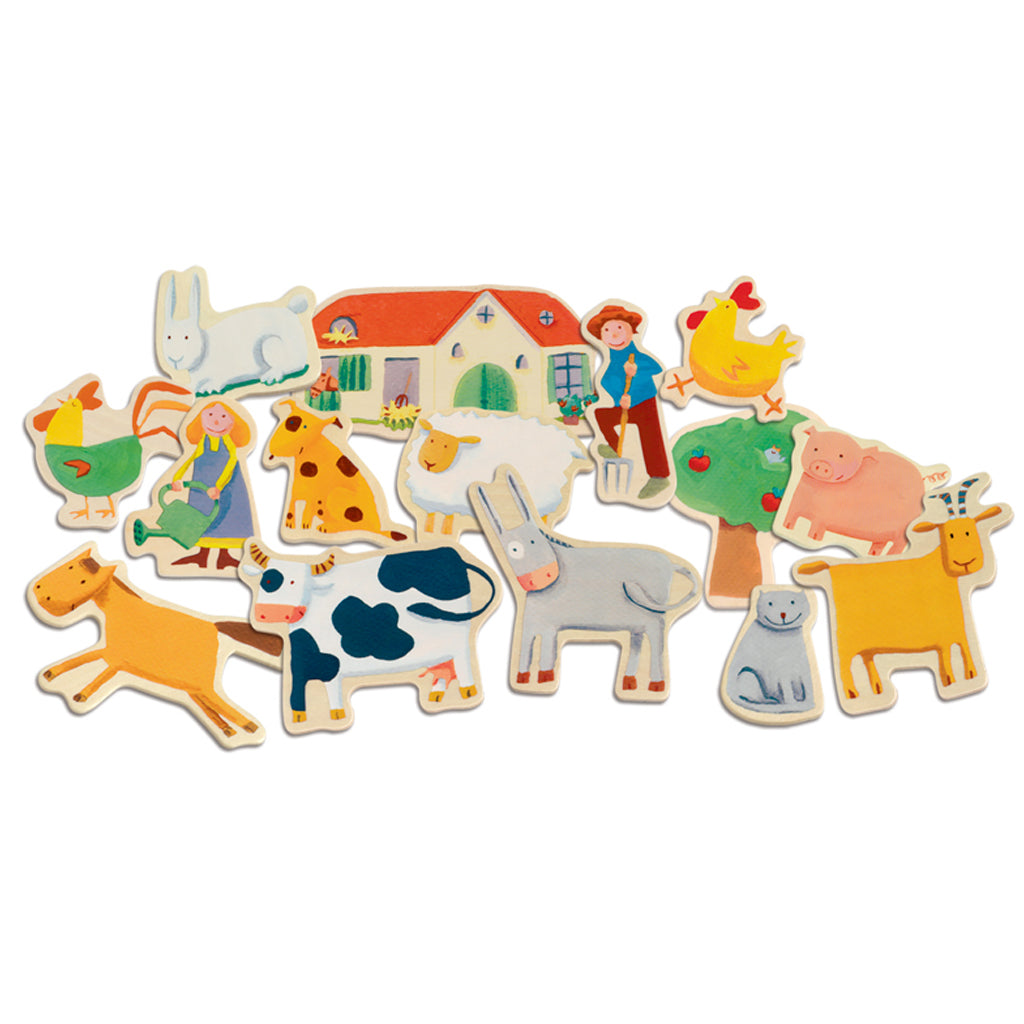 Djeco Wooden Magnetic Farm Set - UrbanBaby shop