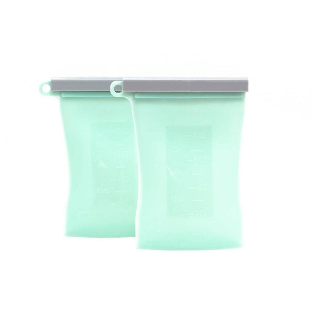Junobie Silicone Breastmilk Storage Bag 2pk - Mint - UrbanBaby shop