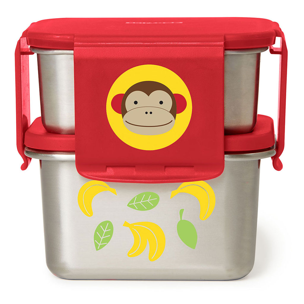 Skip Hop Zoo Stainless Steel Lunch Kit - Monkey