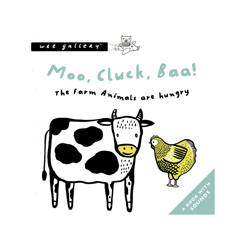Wee Gallery Press & Listen Book Moo, Cluck Baa! - UrbanBaby shop