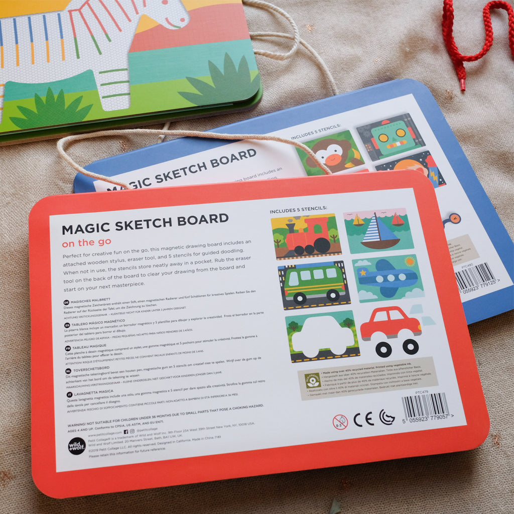 Petit Collage Magic Sketch Board - On the Go - UrbanBaby shop