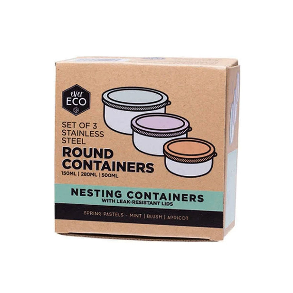 Ever Eco Round Nesting Containers - 3pk - UrbanBaby shop