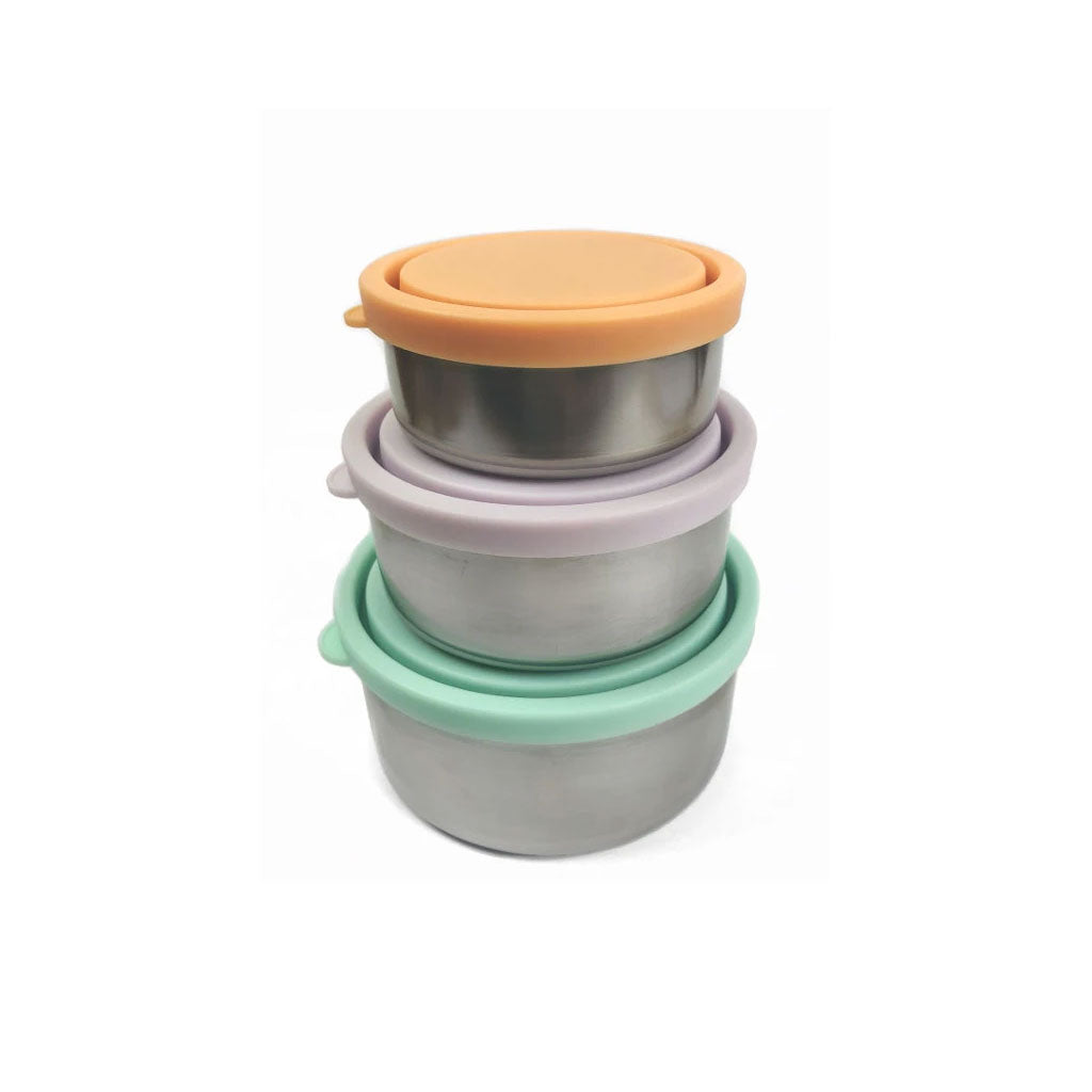 Ever Eco Round Nesting Containers - Spring Pastels 3pk - UrbanBaby shop