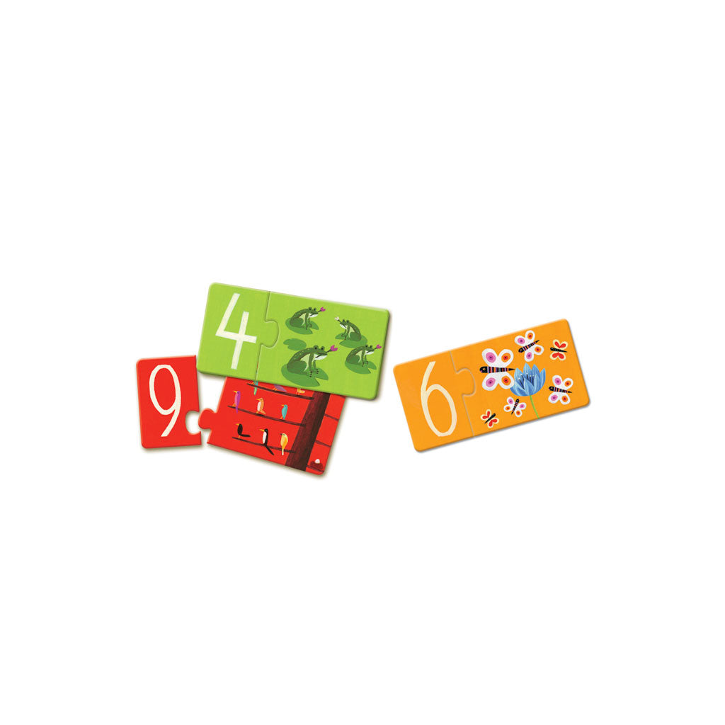 Djeco Duo Puzzle Numbers - UrbanBaby shop