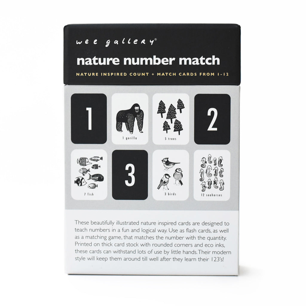 Wee Gallery Nature Number Cards - UrbanBaby shop