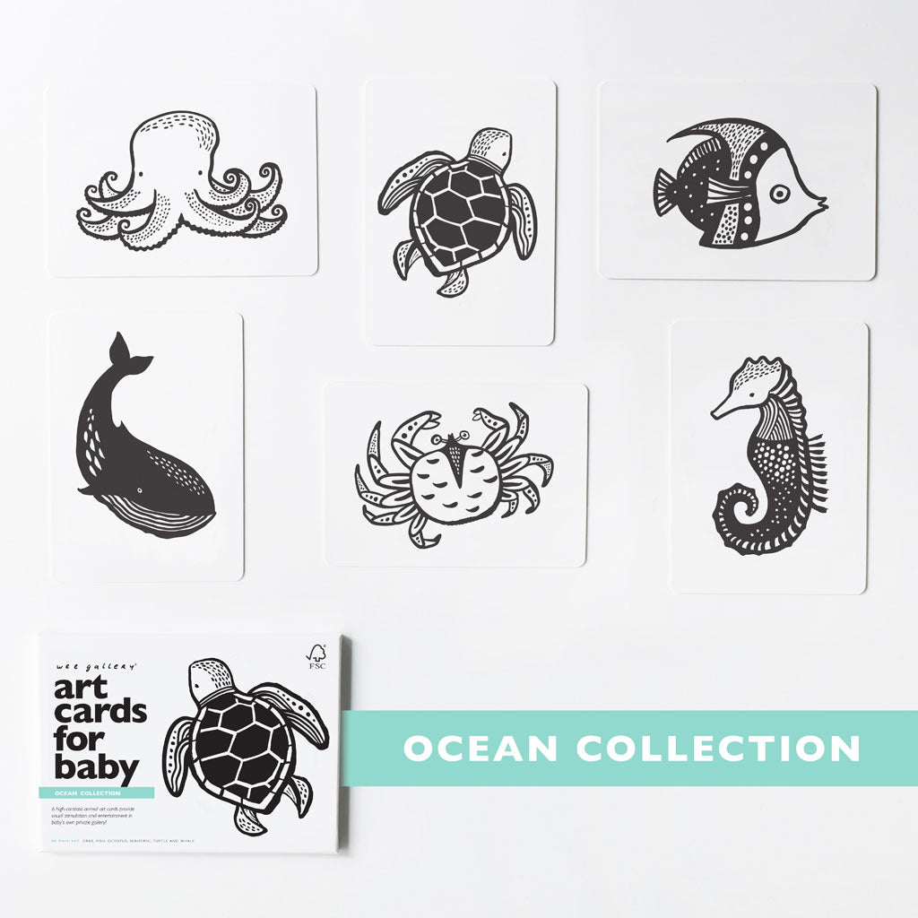 Wee Gallery Art Cards Ocean Collection - UrbanBaby shop