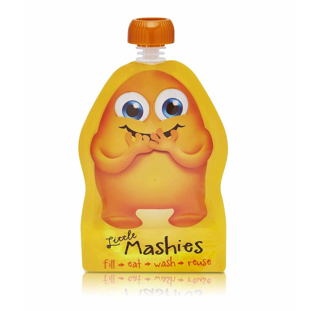 Little Mashies Reusable Squeeze Pouch 2pk - Orange