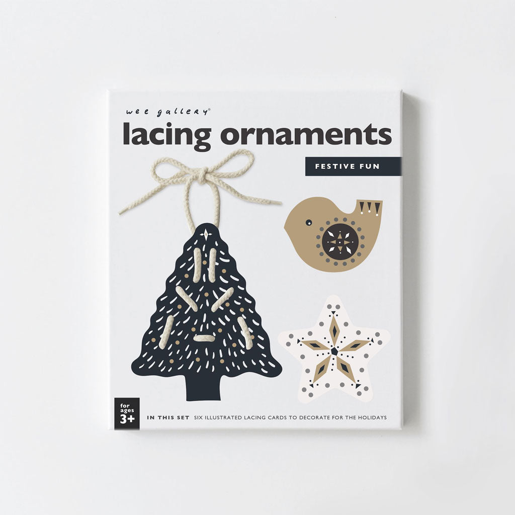 Wee Gallery Lacing Ornaments Festive Fun