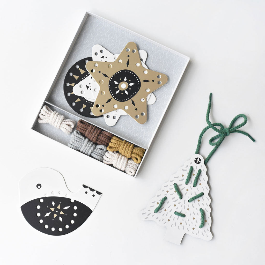 Wee Gallery Lacing Ornaments Festive Fun - UrbanBaby shop