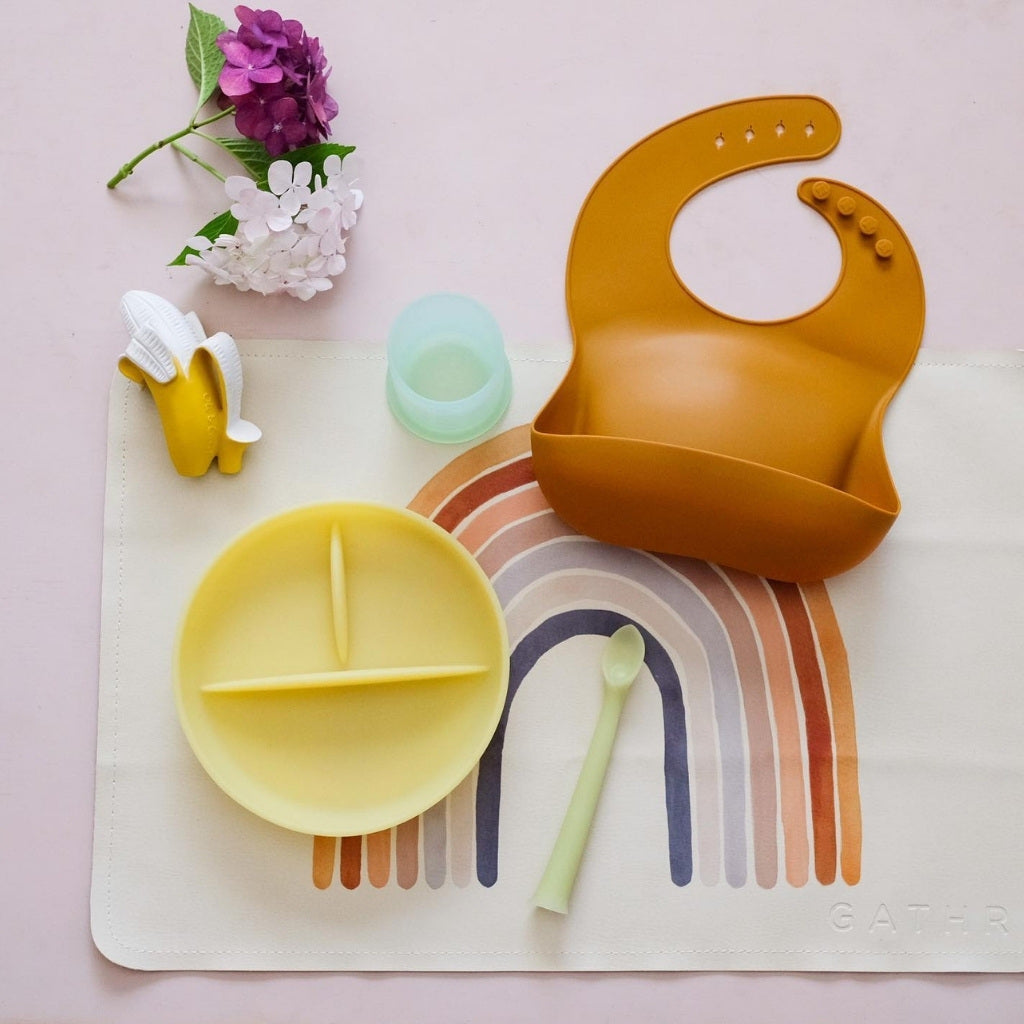 OlaBaby Divided Suction Plate Lemon - UrbanBaby shop