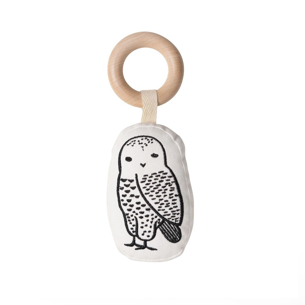 Wee Gallery Organic Rattle Owl - UrbanBaby shop