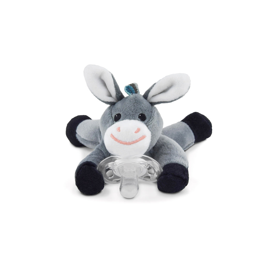 Soft Toy Pacifier Holder Donny the Donkey - UrbanBaby shop