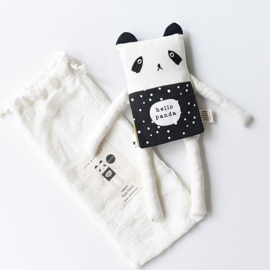 Wee Gallery Organic Flippy Friend Panda - UrbanBaby shop