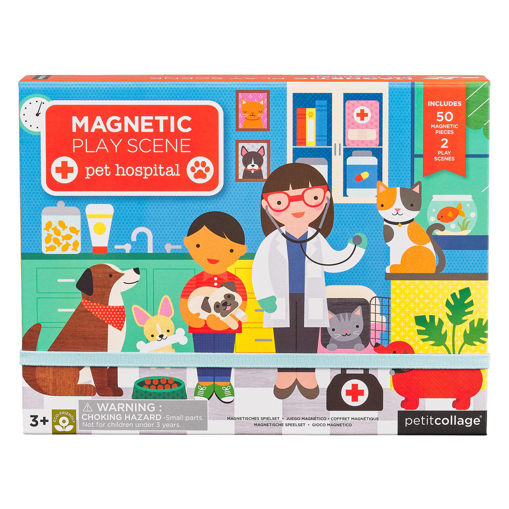 Petit Collage Magnetic Play Pet Hospital - UrbanBaby shop