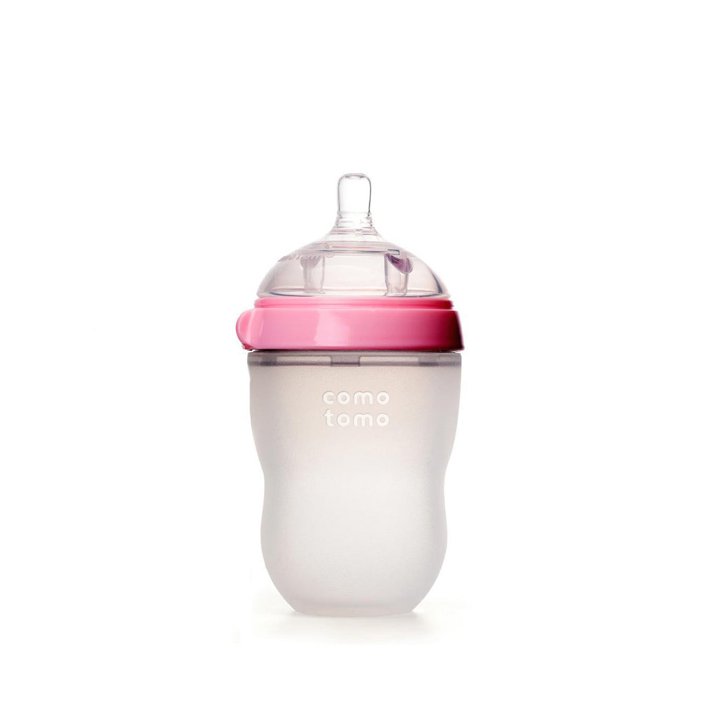 Comotomo Silicone Baby Bottle 250ml Pink