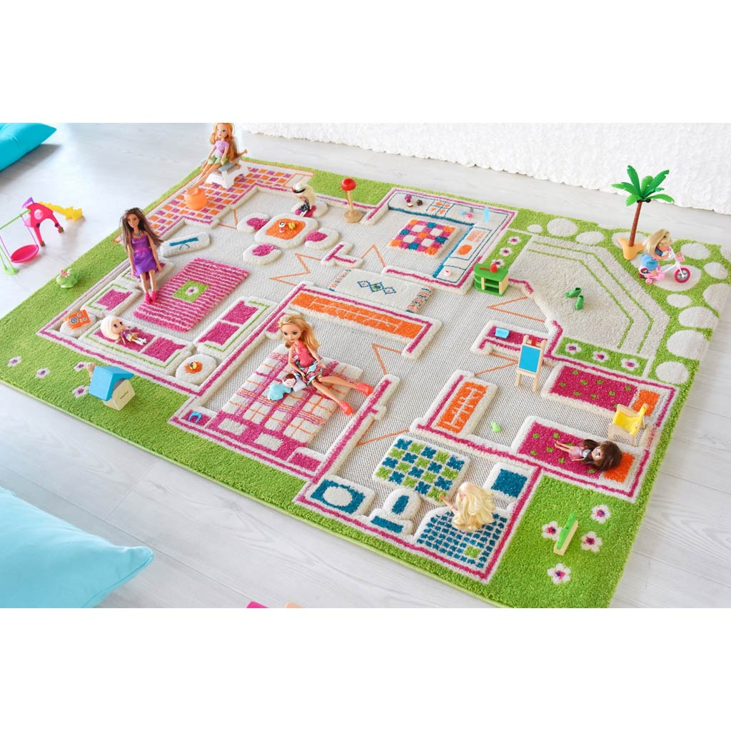 IVI Interactive Play Rug Playhouse Green Medium