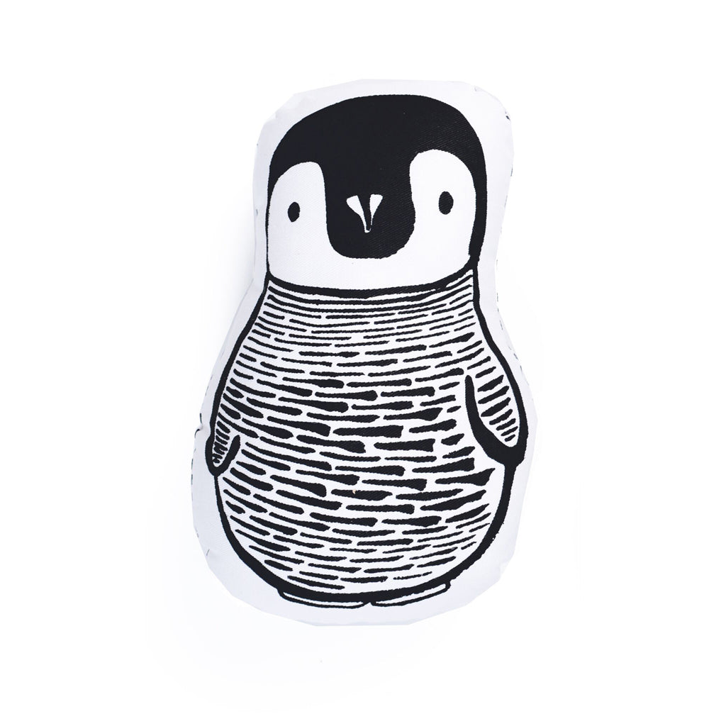 Wee Gallery Organic Throw Pillow - Penguin - UrbanBaby shop