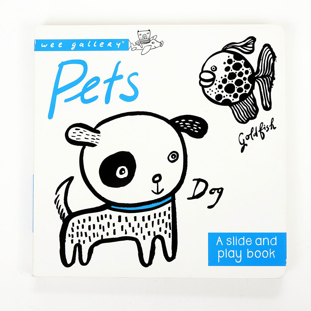 Wee Gallery Slide & Play Board Book - Pets - UrbanBaby shop