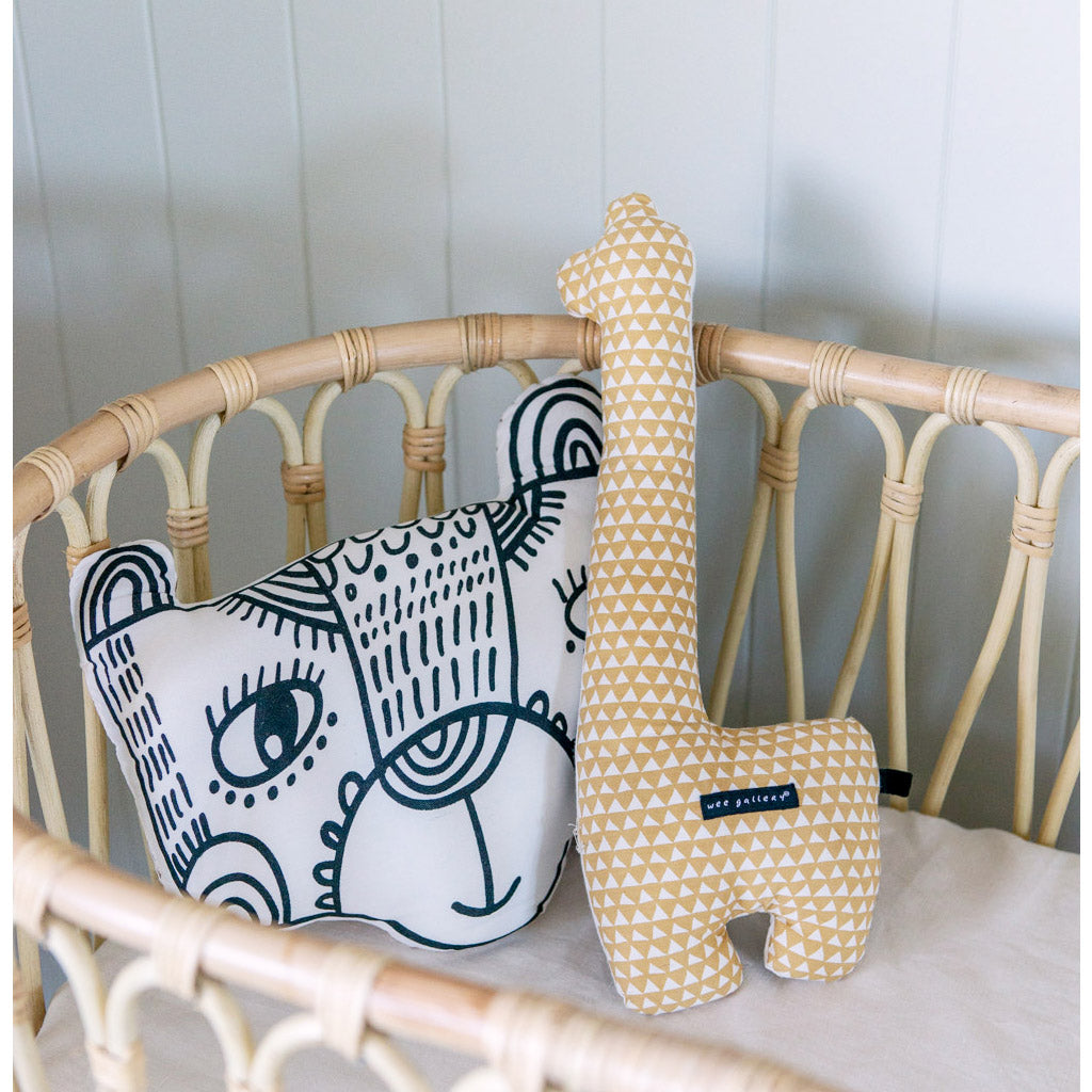 Wee Gallery Organic Throw Pillow Fox - UrbanBaby shop