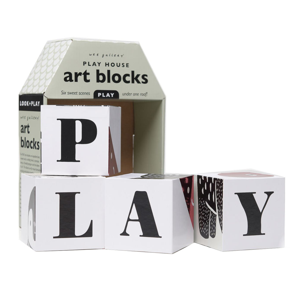Wee Gallery Play House Art Blocks Play - UrbanBaby shop