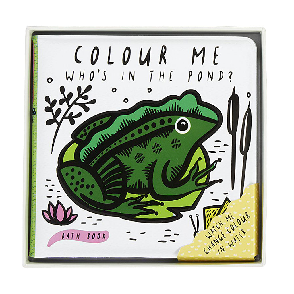 Wee Gallery Bath Book Who's In The Pond - UrbanBaby shop