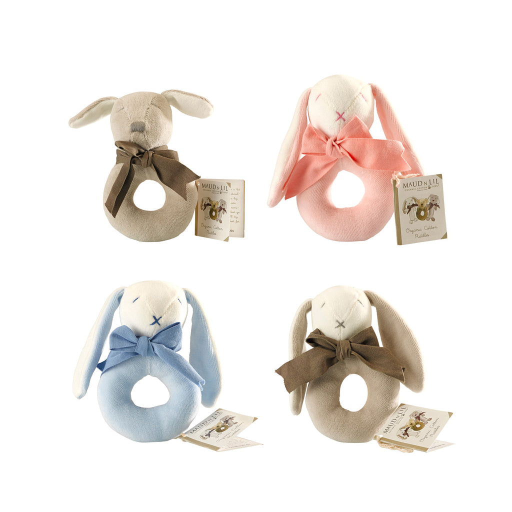 Maud n Lil Organic Cotton Ring Rattle