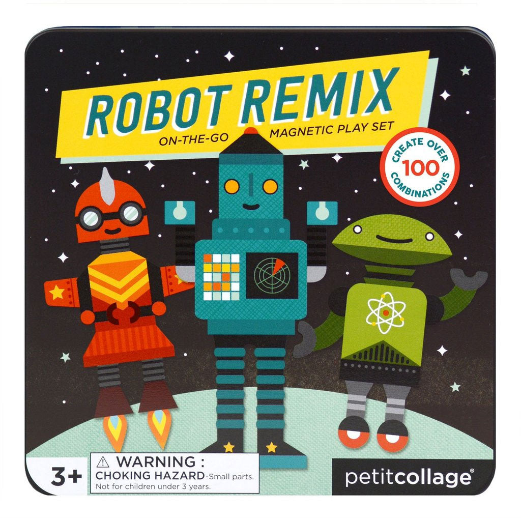 Petit Collage On The Go Magnet Tin Robot Remix