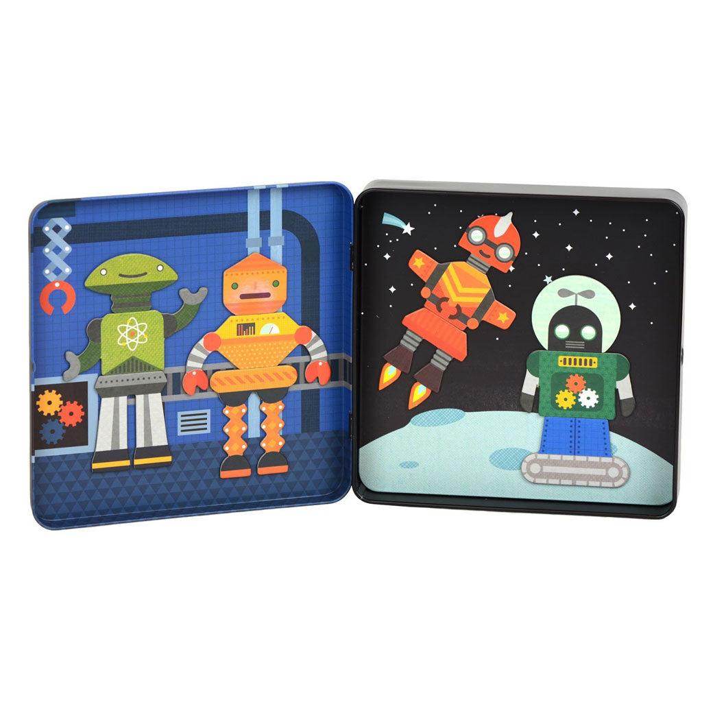 Petit Collage On The Go Magnet Tin Robot Remix - UrbanBaby shop