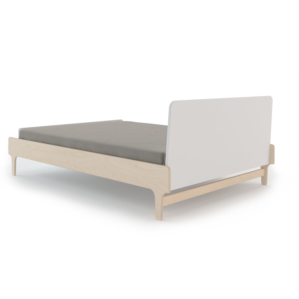 Oeuf River Double Bed - Birch/White