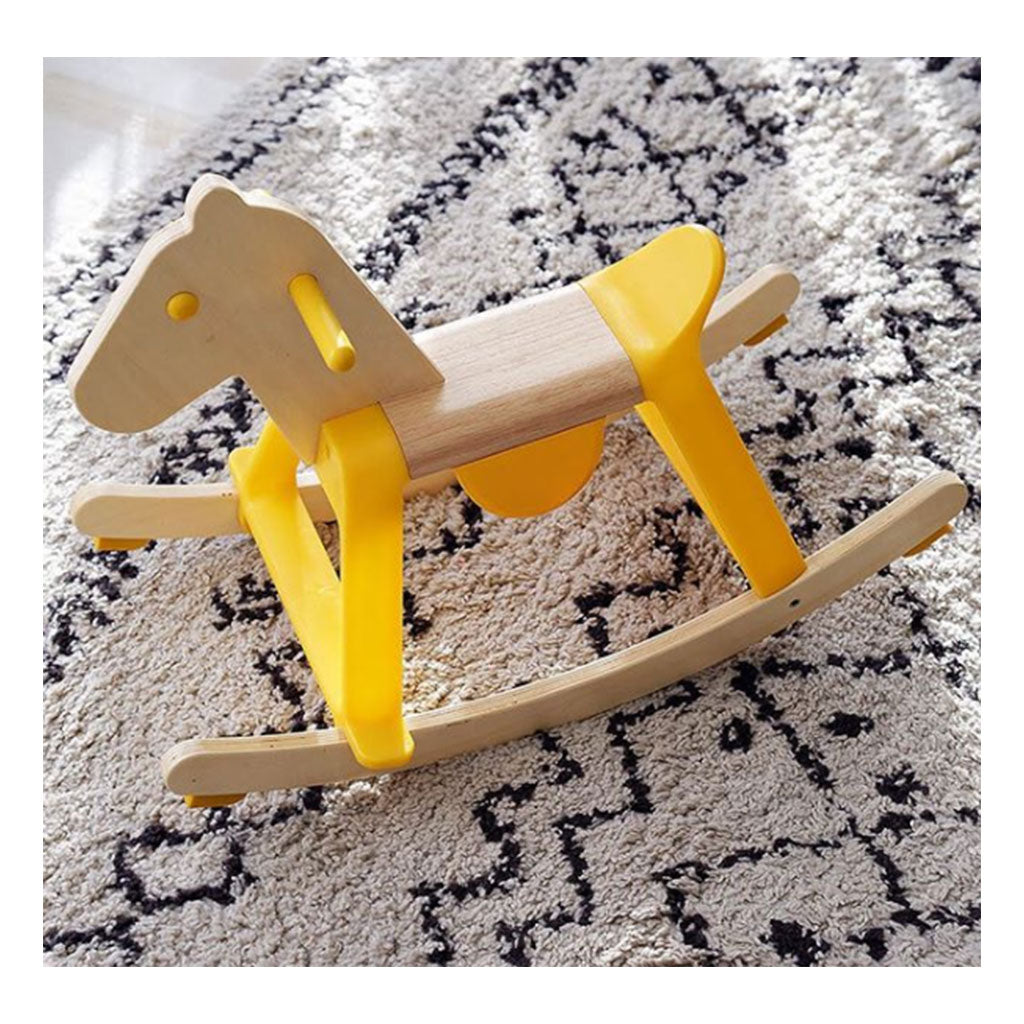 Djeco Rock-It Rocking Horse Yellow - UrbanBaby shop