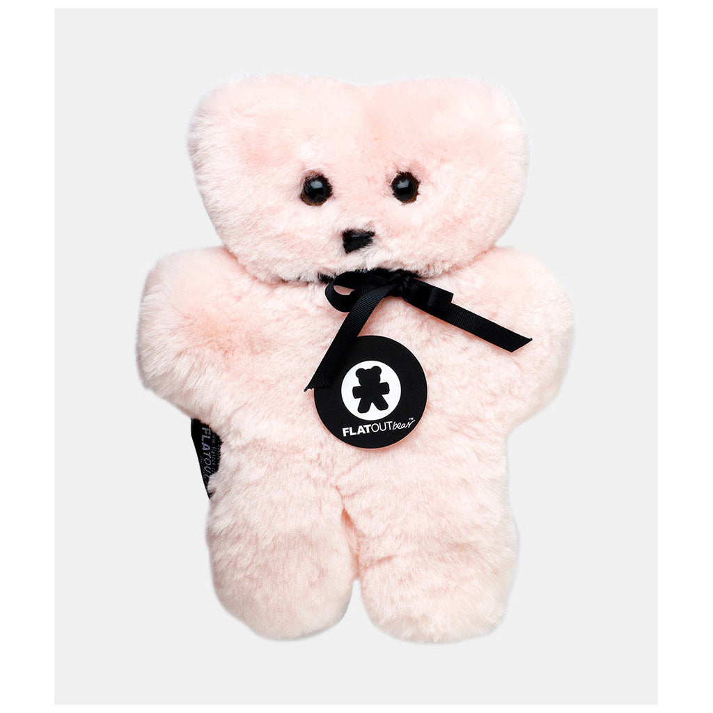 FLATOUT Sheepskin Bear - Pink - UrbanBaby shop