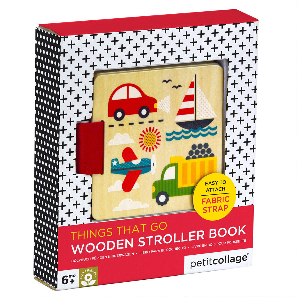 Petit Collage Wood Stroller Book - Things That Go - UrbanBaby shop