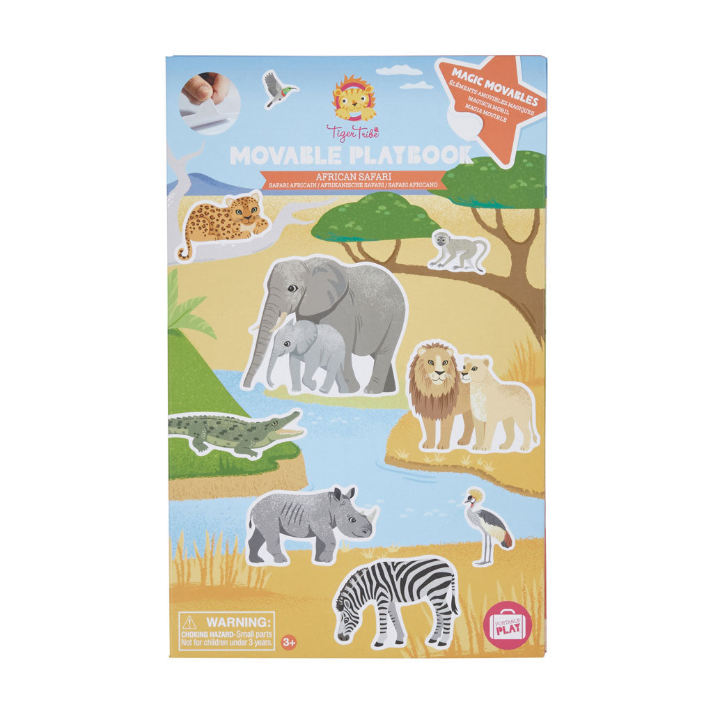 Tiger Tribe Movable Playbook - African Safari - UrbanBaby shop