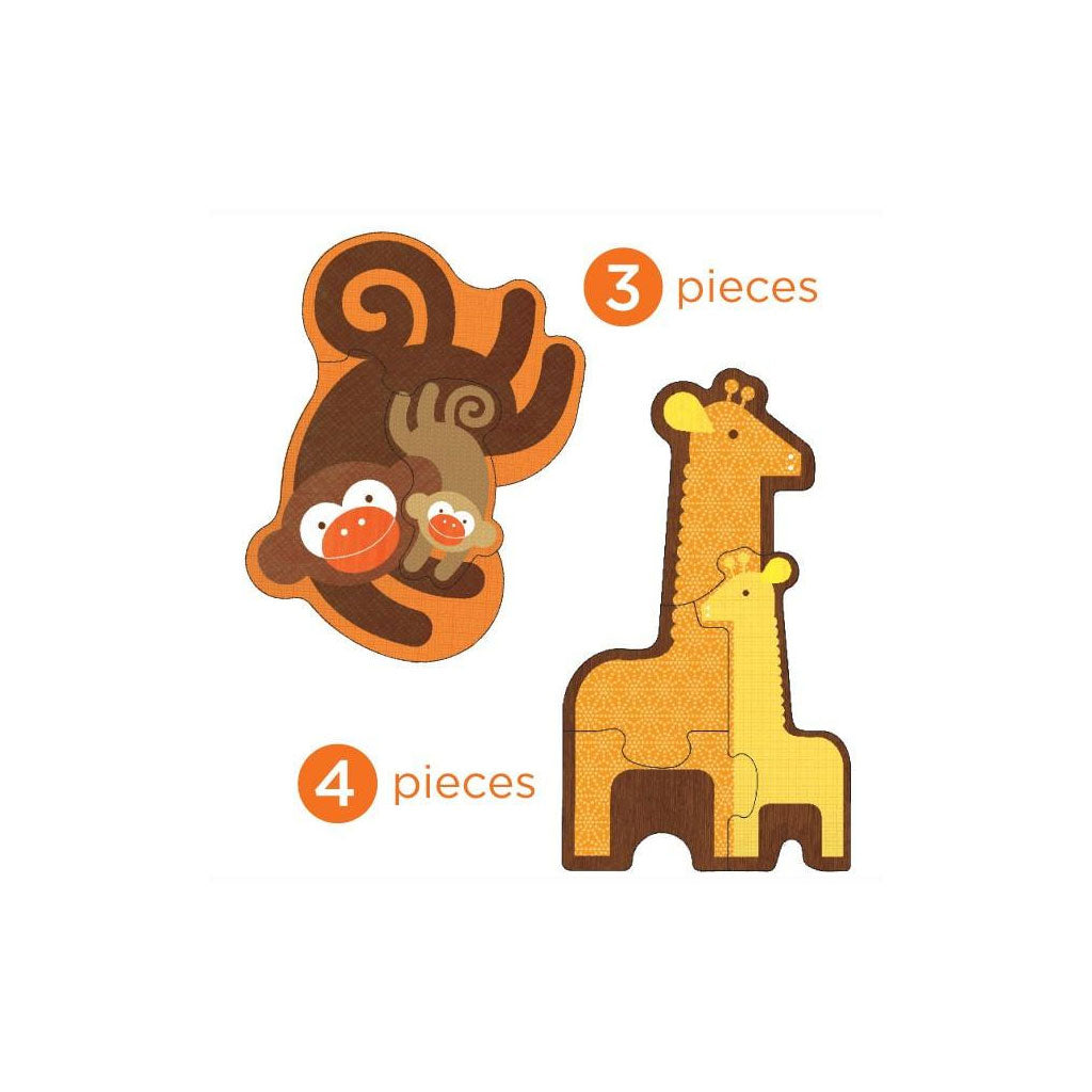 Petit Collage Beginner Puzzle Safari Babies - UrbanBaby shop