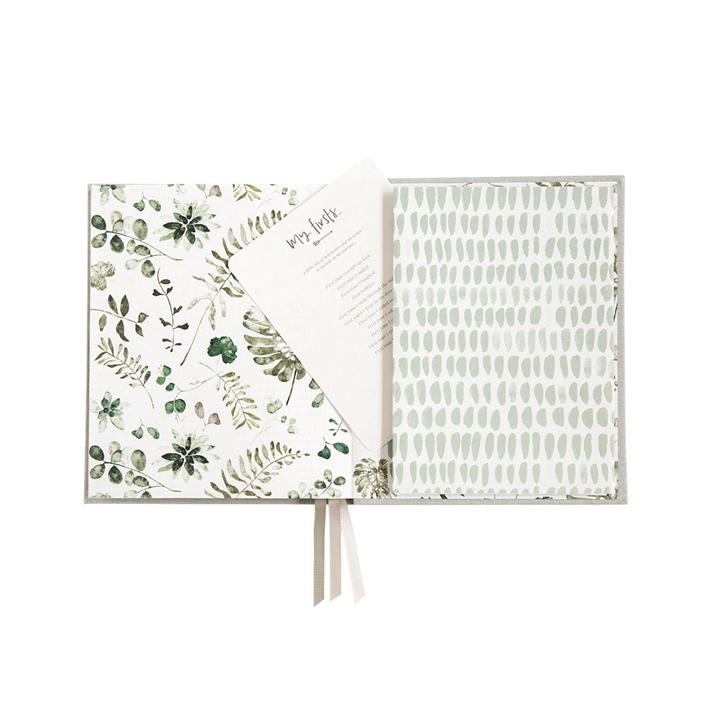Little Dreamer Baby Journal - Sage Green - UrbanBaby shop