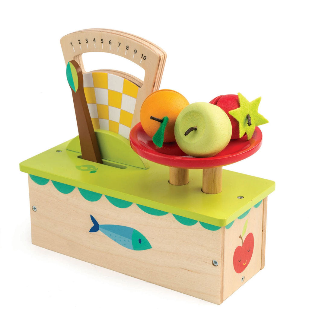 Tender Leaf Wooden Scale and Fruit